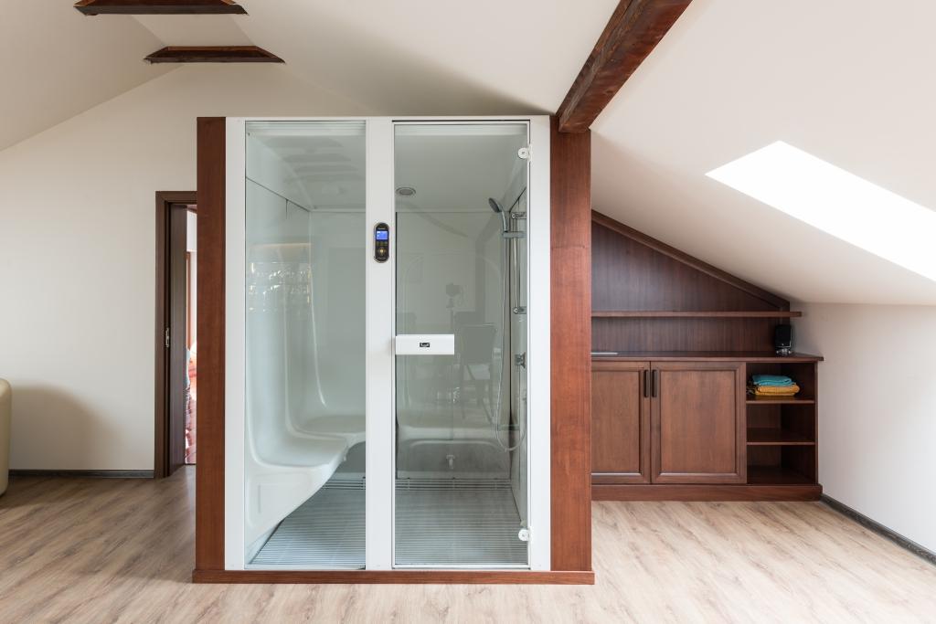 detaliu mobilier pentru zona sauna uscata